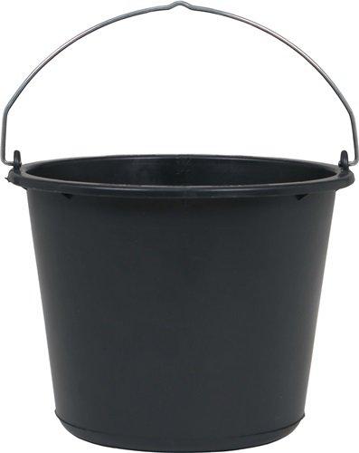 Baueimer 12l schwarz Recycling-Kunststoff
