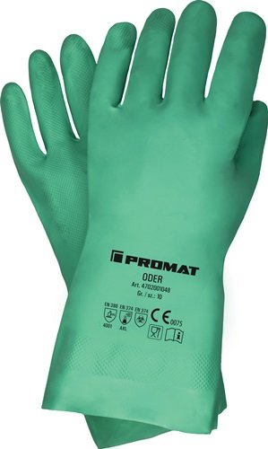 Chemiehandschuh Oder Gr.10 grün EN 388,EN 374 PSA III PROMAT