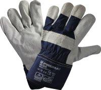 Handschuhe Weser Gr.10 blau Rindkernspaltleder EN 388 PSA...