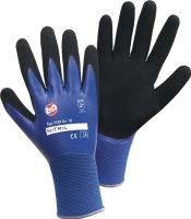 Handschuhe Nitril Aqua Gr.10 blau/schwarz Nyl.m.dop.Nitril EN 388 PSA II