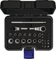 Steckschlüsselsatz 25-tlg.1/4 Zoll SW 4-14mm 6KT PROMAT