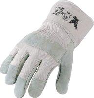 Handschuhe Falke-C Gr.11 naturfarben Rindspaltleder EN...